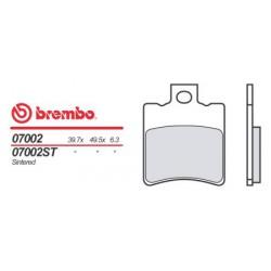 Front brake pads Brembo Malaguti 100 F 12 PHANTOM TWIN DISK 2002 -  type OEM