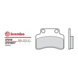 Front brake pads Brembo TGB 125 EXPRESS 2009 -  type OEM