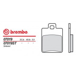 Front brake pads Brembo Derbi 150 SONAR 4-STROKE 2010 -  type OEM