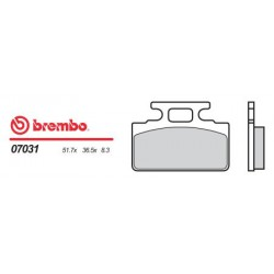 Front brake pads Brembo Kymco 90 YUP SP 1995 -  type OEM