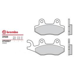 Front brake pads Brembo Kymco 400 G 3 LEFT CALIPER 2000 -  type OEM