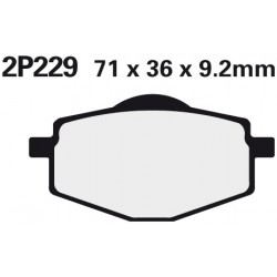Front brake pads Nissin Yamaha XC 125 TR Cygnus, R 1996 -  type NS