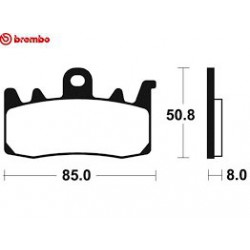 Front brake pads Brembo Ducati 1262 XDIAVEL 2016 -  type RC