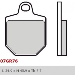 Front brake pads Brembo HM 500 CRM F SUPERMOTO 2011 -  type SA