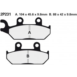 Front brake pads Nissin Yamaha 400 Artesia 1991 -  type NS