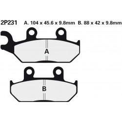 Front brake pads Nissin Yamaha XT 500 E (Austria) 1990 - 1996 type NS