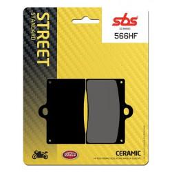 Front brake pads SBS Cagiva  125 Raptor 2003 - 2010 směs HF