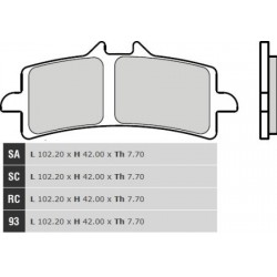 Front brake pads Brembo Bimota 1198 IMPETO 2016 -  type SA