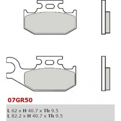 Front brake pads Brembo Can-Am 330 OUTLANDER RIGHT 2003 - 2005 type SD