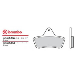 Front brake pads Brembo Arctic Cat 454 BEAR CAT 2X4/4X4 1996 - 1998 type SD