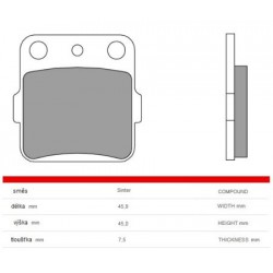 Front brake pads Brembo Honda 420 TRX FPE / FPM 4X4 2009 -  type SD