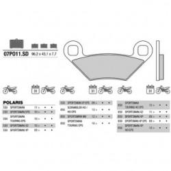 Front brake pads Brembo Polaris 1000 SCRAMBLER XP HO EPS 2014 -  type SD