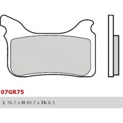 Front brake pads Brembo Aprilia 660 PEGASO FACTORY 2005 -  type SX