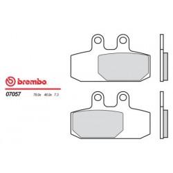 Front brake pads Brembo Aprilia 400 SCARABEO I.E. 2006 -  type XS