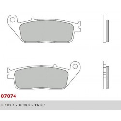 Front brake pads Brembo Peugeot 500 GEOPOLIS RS 2008 -  type XS