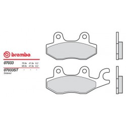 Front brake pads Brembo Kymco 400 G 3 RIGHT CALIPER 2000 -  type XS