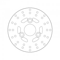 Front brake disc Brembo DERBI 50 VAMOS 1995 - 1997