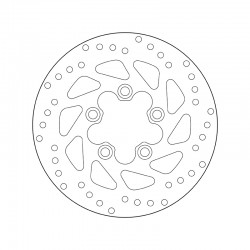 Front brake disc Brembo KYMCO 50 DINK CLASSIC 2003 - 2007
