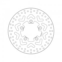 Front brake disc Brembo KYMCO 125 AGILITY 16 PLUS 2014 -