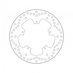 Front brake disc Brembo PIAGGIO 250 BEVERLY IE EURO3 2006 - 2008