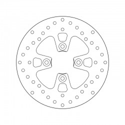 Front brake disc Brembo YAMAHA 150 MAJESTY 2001 - 2002