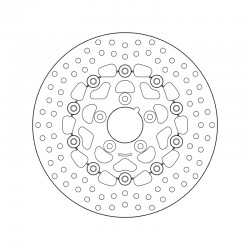 Front brake disc Brembo HARLEY DAVIDSON 1340 FXRS 1340 LOW RIDER SPORT 1987 - 1999