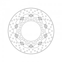 Front brake disc Brembo YAMAHA 660 MT 03 2006 - 2011
