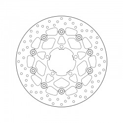 Front brake disc Brembo TRIUMPH 800 TIGER ABS 2011 - 2014