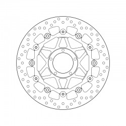 Front brake disc Brembo DUCATI 1198 1198 2009 -
