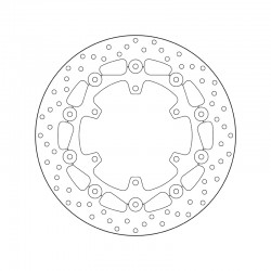 Front brake disc Brembo YAMAHA 950 XVS MIDNIGHT STAR 2009 -