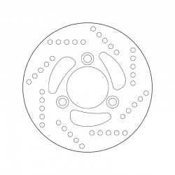 Rear brake disc Brembo PEUGEOT 50 X-RACE 2002 - 2005