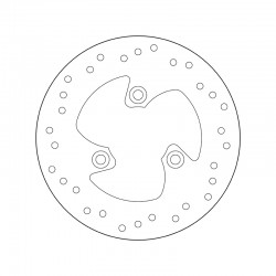 Rear brake disc Brembo PEUGEOT 50 ELYSTAR 2001 -