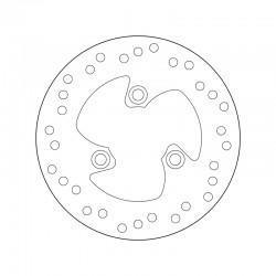 Rear brake disc Brembo PEUGEOT 100 LOOXOR 2002 -