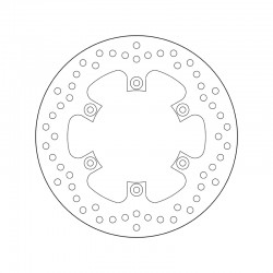 Rear brake disc Brembo KAWASAKI 125 KX 1988 - 2002