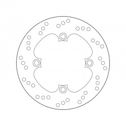 Rear brake disc Brembo TRIUMPH 855 T 509 SPEED TRIPLE 1997 - 1998