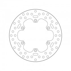 Rear brake disc Brembo KTM 660 RALLYE FACTORY REPLICA 2003 - 2007