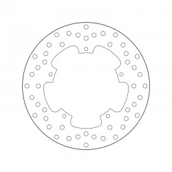 Rear brake disc Brembo GILERA 500 FUOCO I.E. 2007 - 2011
